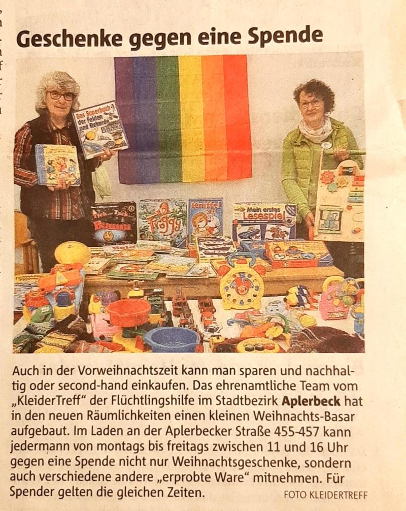 RN: Weihnachtsbasar Stadtteilzeitung Aplerbeck Samstag, 2020-12-05